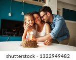 mother's birthday.husband and... | Shutterstock . vector #1322949482