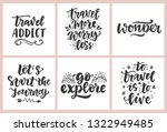 travel slogan set. hand drawn... | Shutterstock .eps vector #1322949485