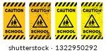 caution school sign signs... | Shutterstock .eps vector #1322950292