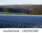 view over frost covered field...   Shutterstock . vector #1322962385