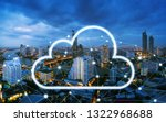 cloud network and connection... | Shutterstock . vector #1322968688