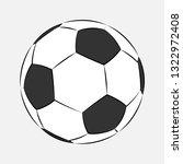 football soccer ball icon... | Shutterstock . vector #1322972408