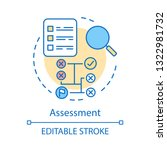 assessment concept icon. making ...   Shutterstock .eps vector #1322981732