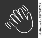 waving hand gesture emoji chalk ... | Shutterstock .eps vector #1322981795