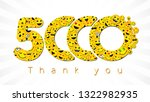 thank you 5 000 followers... | Shutterstock .eps vector #1322982935