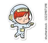 sticker of a cartoon astronaut...   Shutterstock .eps vector #1322987198