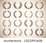 collection of different vintage ... | Shutterstock .eps vector #1322991608