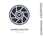 camera shutter icon on white... | Shutterstock .eps vector #1322997455