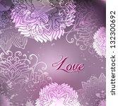 romantic vector deep plum... | Shutterstock .eps vector #132300692