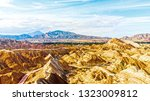 top view of rainbow mountains... | Shutterstock . vector #1323009812