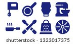 culinary icon set. 8 filled... | Shutterstock .eps vector #1323017375
