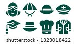 occupation icon set. 8 filled... | Shutterstock .eps vector #1323018422