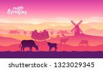 farming life brochure card.... | Shutterstock .eps vector #1323029345