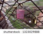 closed love lock as symbol of...   Shutterstock . vector #1323029888