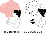 woman using an aromatherapy... | Shutterstock .eps vector #1323031805