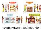 shop window vector showwindow... | Shutterstock .eps vector #1323032705