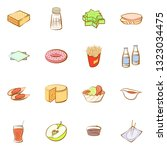 food images. background for... | Shutterstock .eps vector #1323034475