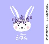 happy easter nand drawn... | Shutterstock .eps vector #1323050582