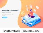online courses isometric... | Shutterstock .eps vector #1323062522
