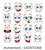 face expression set. vector... | Shutterstock .eps vector #1323072308