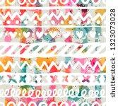 template seamless pattern. can... | Shutterstock .eps vector #1323073028