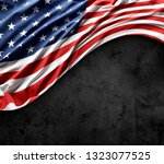 close up of american flag on...   Shutterstock . vector #1323077525