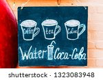 coffee cup   tea cup  and cacao ... | Shutterstock . vector #1323083948