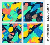 abstract pattern with tropical... | Shutterstock .eps vector #1323093545
