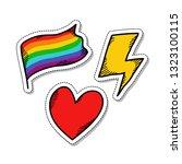 lightning  heart  lgbt flag... | Shutterstock .eps vector #1323100115