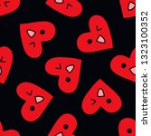 emoji heart seamless doodle...   Shutterstock .eps vector #1323100352