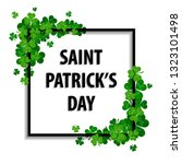 saint patrick's day frame with... | Shutterstock . vector #1323101498