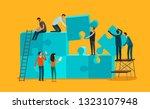 team work concept. business ... | Shutterstock .eps vector #1323107948