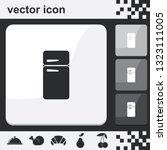 refrigerator flat set of... | Shutterstock .eps vector #1323111005