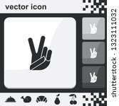 victory sign. peace fingers... | Shutterstock .eps vector #1323111032