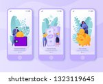 mobile app page  screen set.... | Shutterstock .eps vector #1323119645