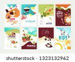 set of restaurant menu ... | Shutterstock .eps vector #1323132962