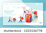 concept of landing page on... | Shutterstock .eps vector #1323136778