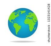 earth globe isolated on white... | Shutterstock .eps vector #1323141428