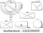 women bag clutch fashion... | Shutterstock .eps vector #1323150455