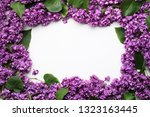 decorative frame of lilac...   Shutterstock . vector #1323163445