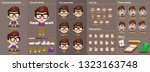 cartoon brunette boy... | Shutterstock .eps vector #1323163748