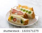 tea time home made fruit... | Shutterstock . vector #1323171275