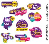 big sale sticker template.... | Shutterstock .eps vector #1323199892