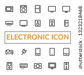 electronic line icon set for... | Shutterstock .eps vector #1323218468