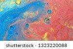 colorful sparkling paints mix... | Shutterstock . vector #1323220088