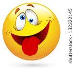 smiley vector illustration  ... | Shutterstock .eps vector #132322145