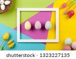happy easter background | Shutterstock . vector #1323227135