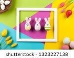 happy easter background | Shutterstock . vector #1323227138