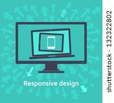 responsive web design on... | Shutterstock .eps vector #132322802