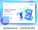 landing happy shopping discount ...